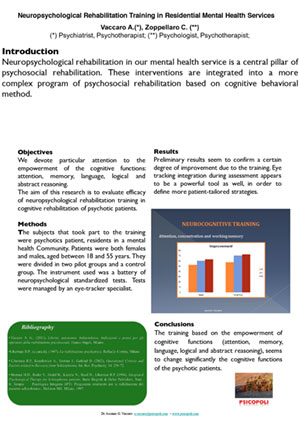 Neuropsychological Rehabilitation Training in Residential Mental Health Services